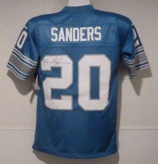 Barry Sanders Autographed Signed Detroit Lions Blue Reebok EQT Jersey