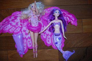 Barbie Fairytopia Mermaidia Merissa Fairy to Mermaid Elina Dolls