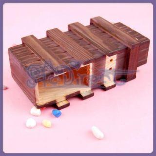 Vintage Wooden Secret Puzzle Drawer Box Magic Fun Toy