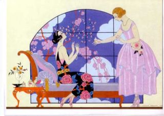 George Barbier Art Deco Greeting Cards Fashion Gallery