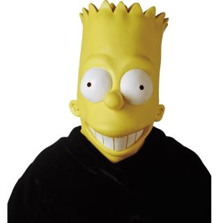 Bart Simpson Adult Mask Latex Full Head Props The Simpsons Costume