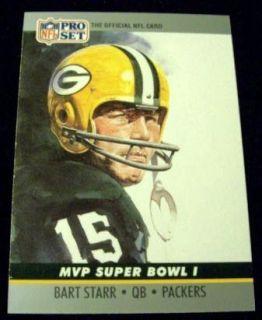 1990 Pro Set Bart Starr Packers Super Bowl 1 MVP