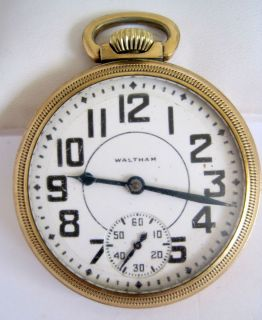 Waltham Crescent St 16S Pocket Watch Gold Plated 17 Jewels