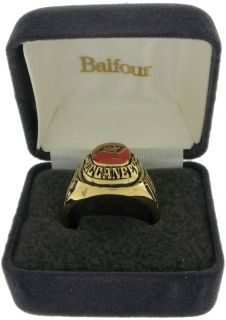 Balfour Ring Football NFL Team Tampa Bay Buccaneers Sz 8