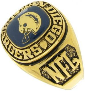 Balfour Ring Football NFL Team San Diego Chargers Sz 13