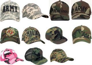 Camouflage Military Low Profile Baseball Cap Camo Hats