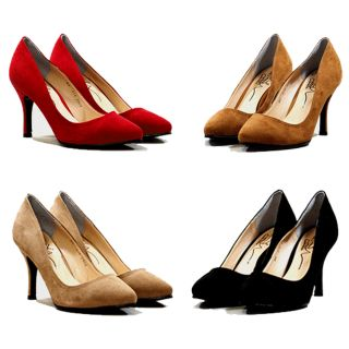 New Womens Shoes Suede Basic High Heel Pumps Classic Platform Stiletto