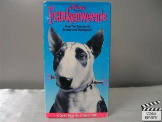 Frankenweenie 1984 VHS Shelley Duvall Barret Oliver Tim Burton
