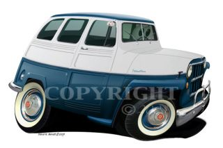 Barrett Classic Collector Art Willys Wagon Wall Graphic Decal Decor