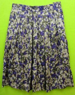 Barrie Pace Silk Sz 18 Womens Olive Green Purple Skirt KR95