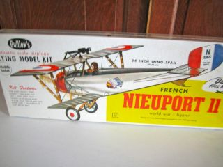 Guillows Balsa Wood Bi Plane Kit French Nieuport 11 WW1 Fighter Model