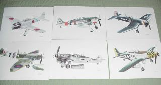 Time Life Books John Batchelor WW II Military Aircraft Color Pictures