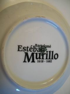 description bartolome esteban murillo rare miniature decorative plate