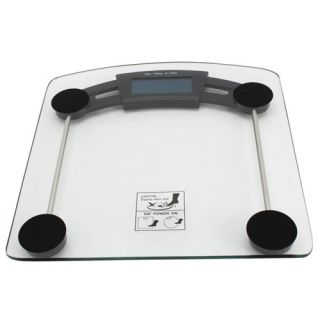 Glass Tray LCD Body Watcher Digital Bathroom Scale 330lb 150kg x 0 1kg