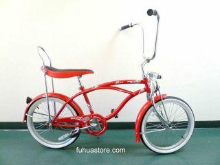 20 Lowrider Beach Cruiser Bicycle Bike Banana Seat Hero Red