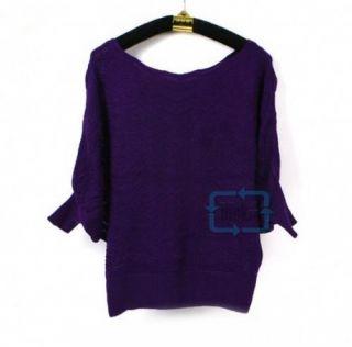 New Women Sexy Loose Bat Sleeve Knitwear Blouse Hollow Sweater Tops