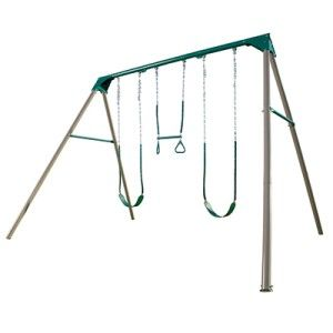 Lifetime Earth Tone 10 Swing Set A Frame Swing Set 2 Belt Swings