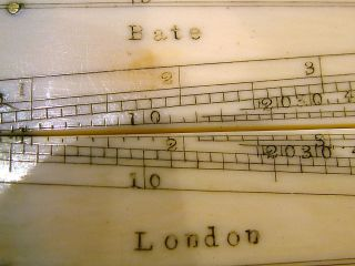 ANTIQUE BATE LONDON FOLDING SECTOR RULE RULER C1870 FAUX IVORY