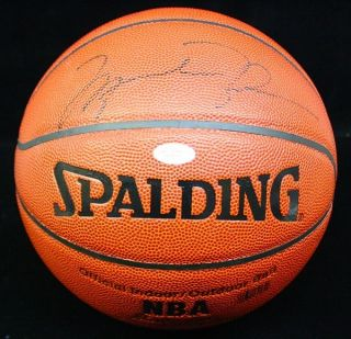 Michael Jordan Signed Autographed Spalding Basketball Ball JSA