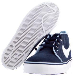 Nike Womens Toki U Sz 7.5 Basketball Shoes Black/White/Blue