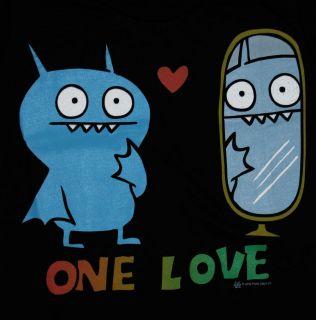 Ugly Dolls One Love Rasta Ice Bat Juniors Babydoll Soft T Shirt Tee