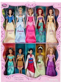Classic Princess & 10 Prince Doll Collection Barbie Ken Set Rapunzel