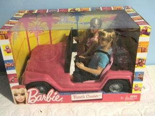 Barbie Beach Cruiser with Barbie and Ken Dolls