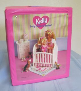 Mattel Kelly Doll Baby Sister of Barbie Play Case 1996 with Kellys