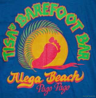 Rare New Without Tags Tisas Barefoot Bar Pago Pago Retro T Shirt   Sz