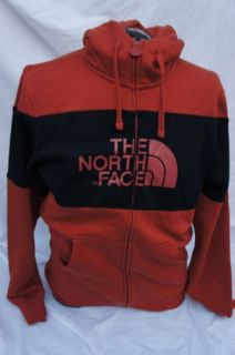 North Face MENS Barker Blocked Full Zip Hoodie Jacket RED CLAY