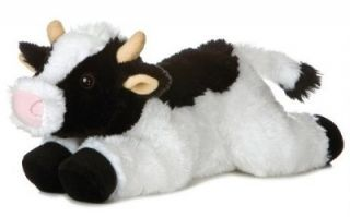 12 Aurora Plush Barn Farm Cow Stuffed Animal Toy New