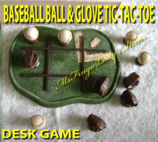 accessory for baseball fan collector model baseball tic tac toe game