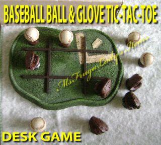 accessory for baseball fan collector model baseball tic tac toe game