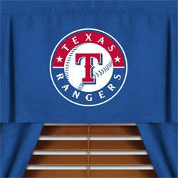 MLB Texas Rangers Sports Window Valance Curtains Drapes