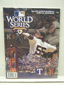 2010 Baseball World Series Game Program Book San Francisco on Cover