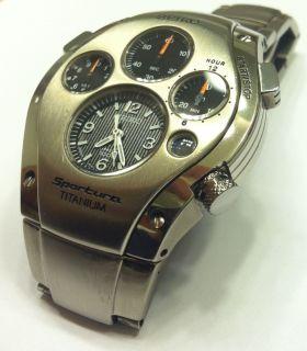 RARE Seiko SLQ009 Titanium Sportura Kinetic Chronograph Cal 9T82 Watch