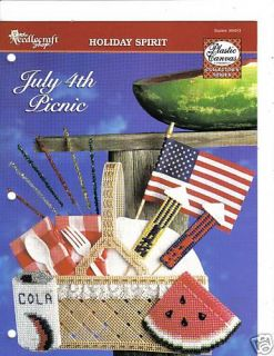 July 4th Picnic Basket Plastic Canvas Pattern