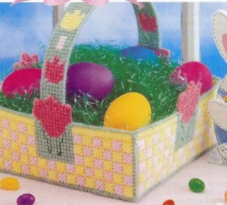 Tulip Easter Basket Plastic Canvas Pattern