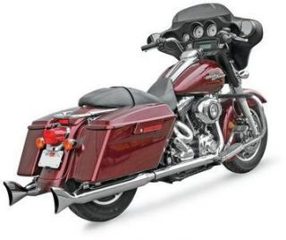 Bassani Classic Fishtail Muffler Chrome Harley Davidson FLHX 1995 2010