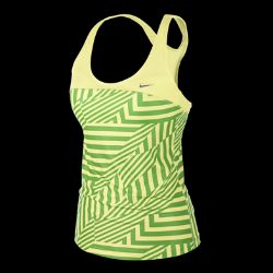 Nike Dri FIT Printed Mesh Womens Tank Top