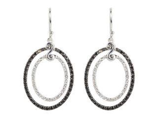 DeLatori Black Spinel and Crystal Earrings