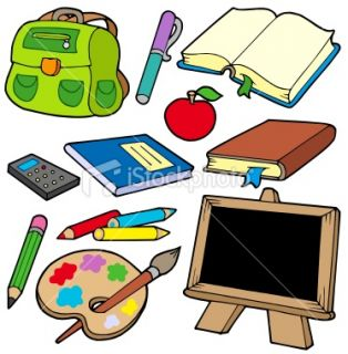 Back to school collection 1 Royalty Free Stock Vector Art Illustration