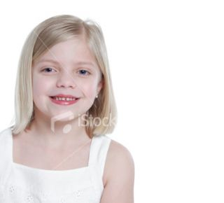 Little Girl (copy space) Royalty Free Stock Photo