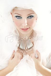 stock photo 12034253 white femme fatale