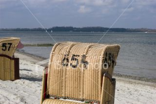 Number 654 Beach Chair Royalty Free Stock Photo