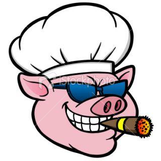 Drawn vector illustration of an chef pig making bbq stock vector - Similiar Bbq Pig Clip Art Vector Keywords