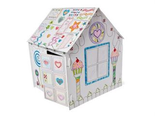 jumbo color in candy house cardboard playhouse
