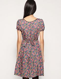 Image 2 ofPepe Jeans London Button Trimmed Floral Tea Dress