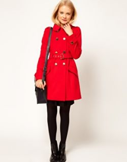 Image 4 of ASOS Cute Military Fit And Flare Coat