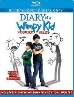 Diary of a Wimpy Kid Rodrick Rules Blu ray DVD, 2011, 3 Disc Set
